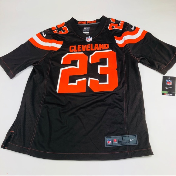the latest 85e64 abba2 Nike NFL Joe Haden Jersey Cleveland Browns Size L NWT